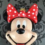 Minnie mouse bauble i painted