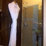 Modern bathroom and bathrobe