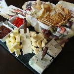 The large cheese and crackers platter ($27)