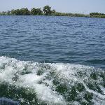 Vista del ancho del río Ebro