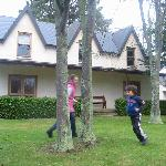Kids playing in the front yard
