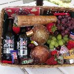 "Our ""Welcome Basket"". Complimentary with each reservation."