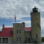 Light house at the Mackinaw Bridge