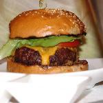 superexpensive burned burger (bad)