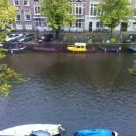 View of the canal from our room
