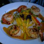 Shrimp and Scallops Dinner at Camille's