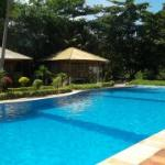 Large swimming pool and pool terrace