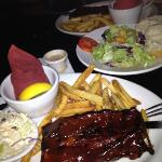 shared rackif ribs and house salad!