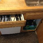 Utensils & under sink - see other photos for detail-Cabin 15
