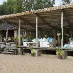 bar and restaurant area on the beach