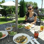 Excellent food in garden