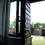 Giardino visto dal letto della camera