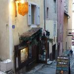 Le Valentin exterior in steeply-sloped alley of Vauban City, Briançon