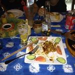 dinner half gone