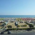 la plage... vue du balcon