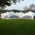 Our marquee in the paddock