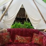 Optional private tent-dining
