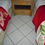 dirty floor - knackered furniture