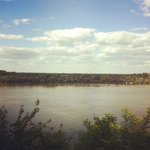 Magnificent view on Danube river