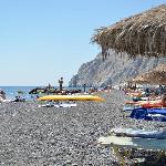 La spiaggi di Kamari.