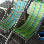 deck chairs on balcony