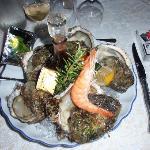 assiette d'huîtres du pays