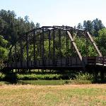 The recycled bridge that crosses the Niobrara River to get back to the falls.
