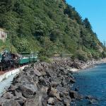 Oregon Coast Scenic Railroad along Tillamook Bay