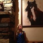 Super J enjoying the art in the dining room.