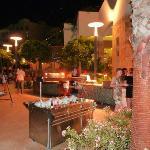 Outdoor food area - always gorgeous, always varied