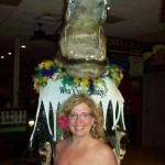 This giant alligator in the lobby is the best feature of the place. Great photo op.
