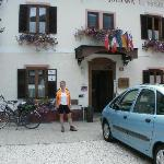 In front of Pension Johanna after a day on the bike
