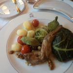 Coniglio al forno con verdure