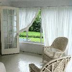 sleeping porch in suite