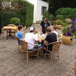 Back patio (breakfast)