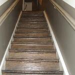 la scalinata dell'entrata