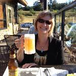 Outside dining in the Sequim sunshine