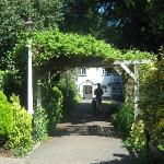 The back entrance, looking from the car park