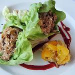 Moroccan Duck Confit Lettuce Wrap