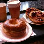 what we ordered - bagels and coffee