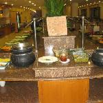 Dinner Buffet, Kibbutz Lavi Hotel, Tiberias, Israel