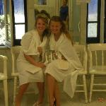 The girls in their togas!