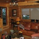 Living Room of Cabin with views of mountains