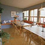 Sala da pranzo che si affaccia sul fiordo