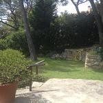 vista dal B&B sul giardino