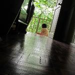 Quiet moment in the morning at the back verendah reading