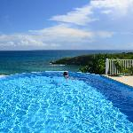 The infinity pool at Hotel Amaudo in guadeloupe