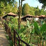 Les différents bungalows de l'hôtel