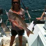 Danni Catching a big Snapper so good