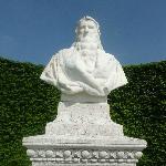 Buste de Leonardo da Vinci. Amboise, Château royal